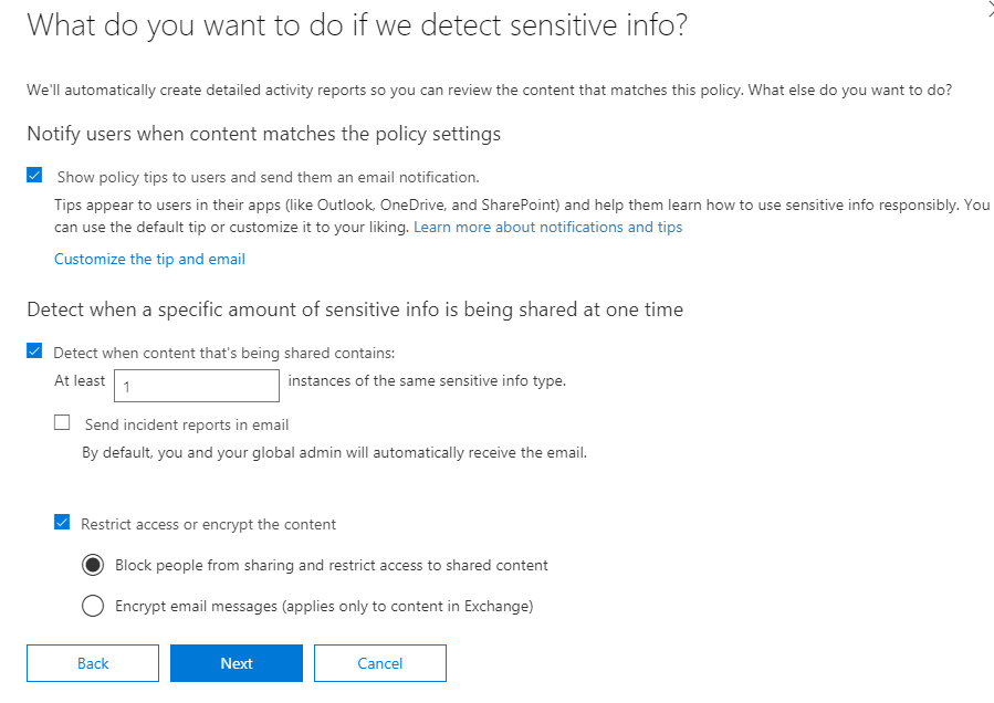 Proof Of Concept: Office 365 Data Loss Prevention policies